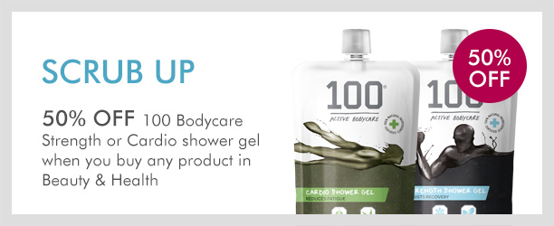 50% off selected100 Bodycare