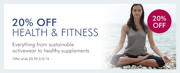 20% off Health & Fitness