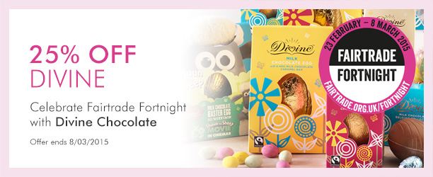 25% off Divine Chocolate