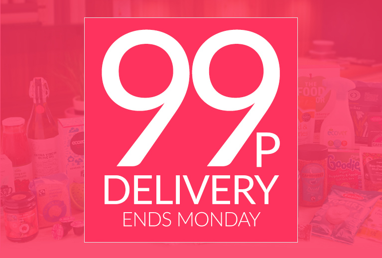 99p Delivery<br>Don't miss out<br> Ends This Monday
