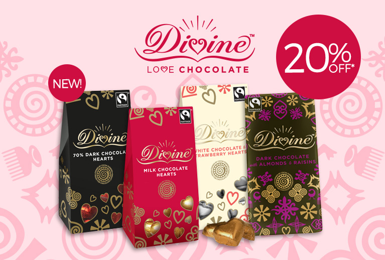 20% Off Divine Hearts* For Valentine's Day