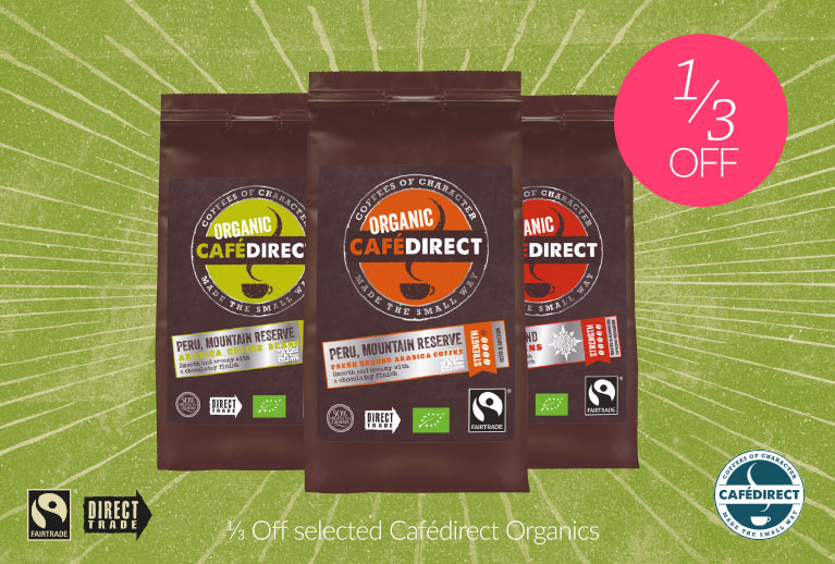 1/3 Off Selected Cafedirect Organics